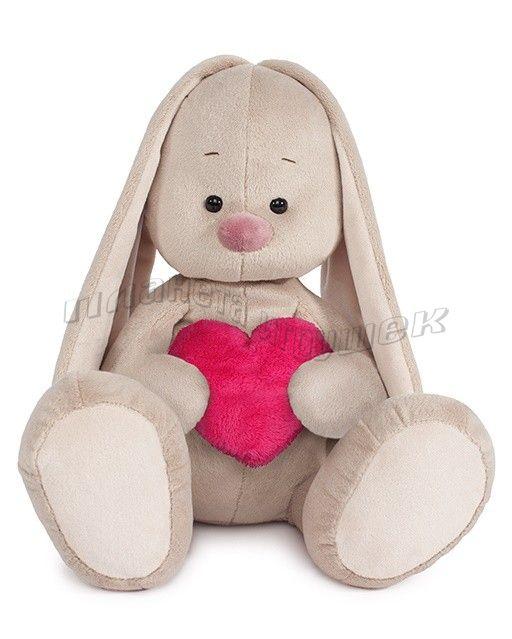 Игрушка мягконабивная Зайка Ми с большой с сердцем