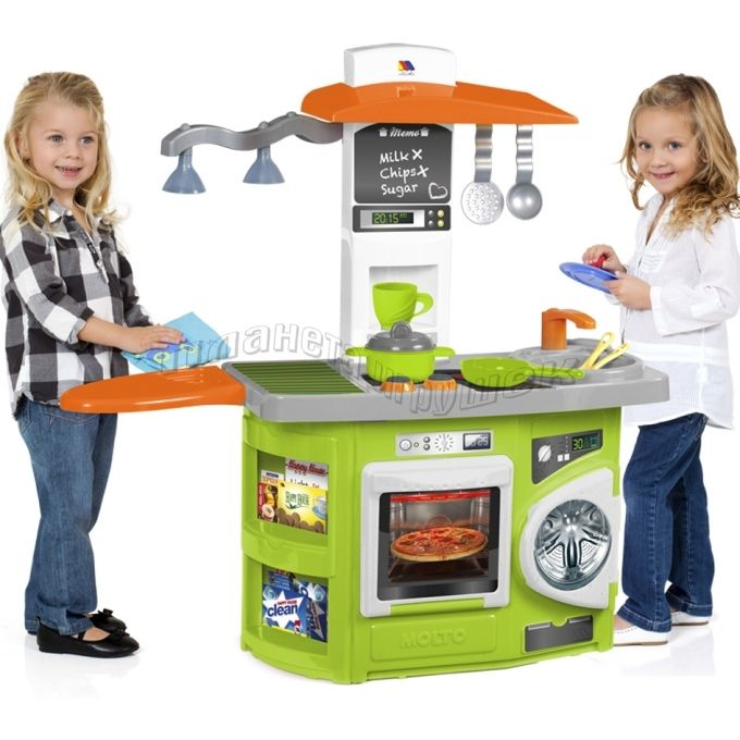 Игровая детская кухня Molto со светом (12 предметов)