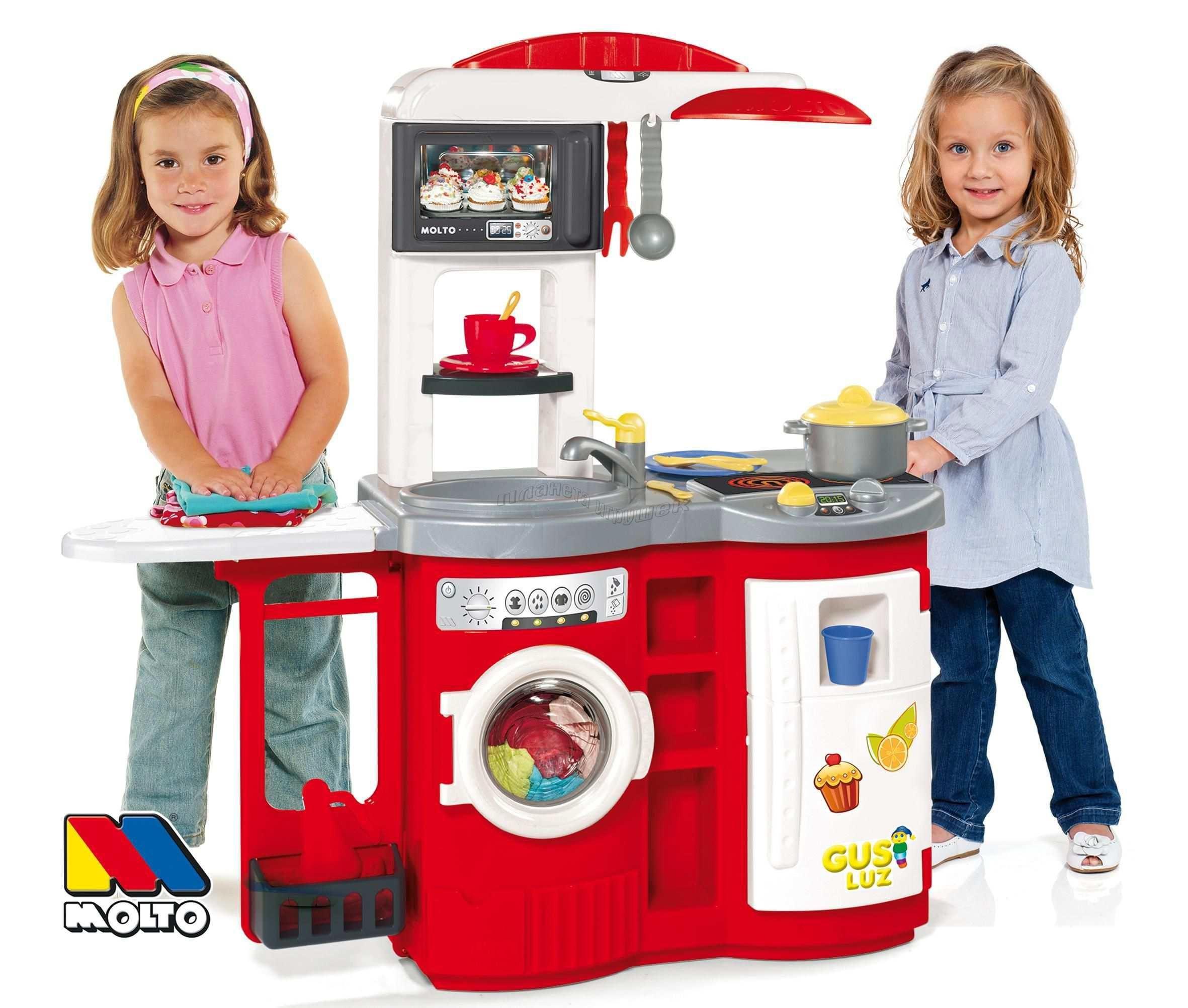 """1369 Детская игровая кухня """"Molto"""" с гладильной доской"""
