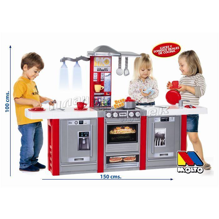 """15168 Детская игровая кухня """"Molto"""" (со звуковыми эффектами и светом, 3 модуля)"""