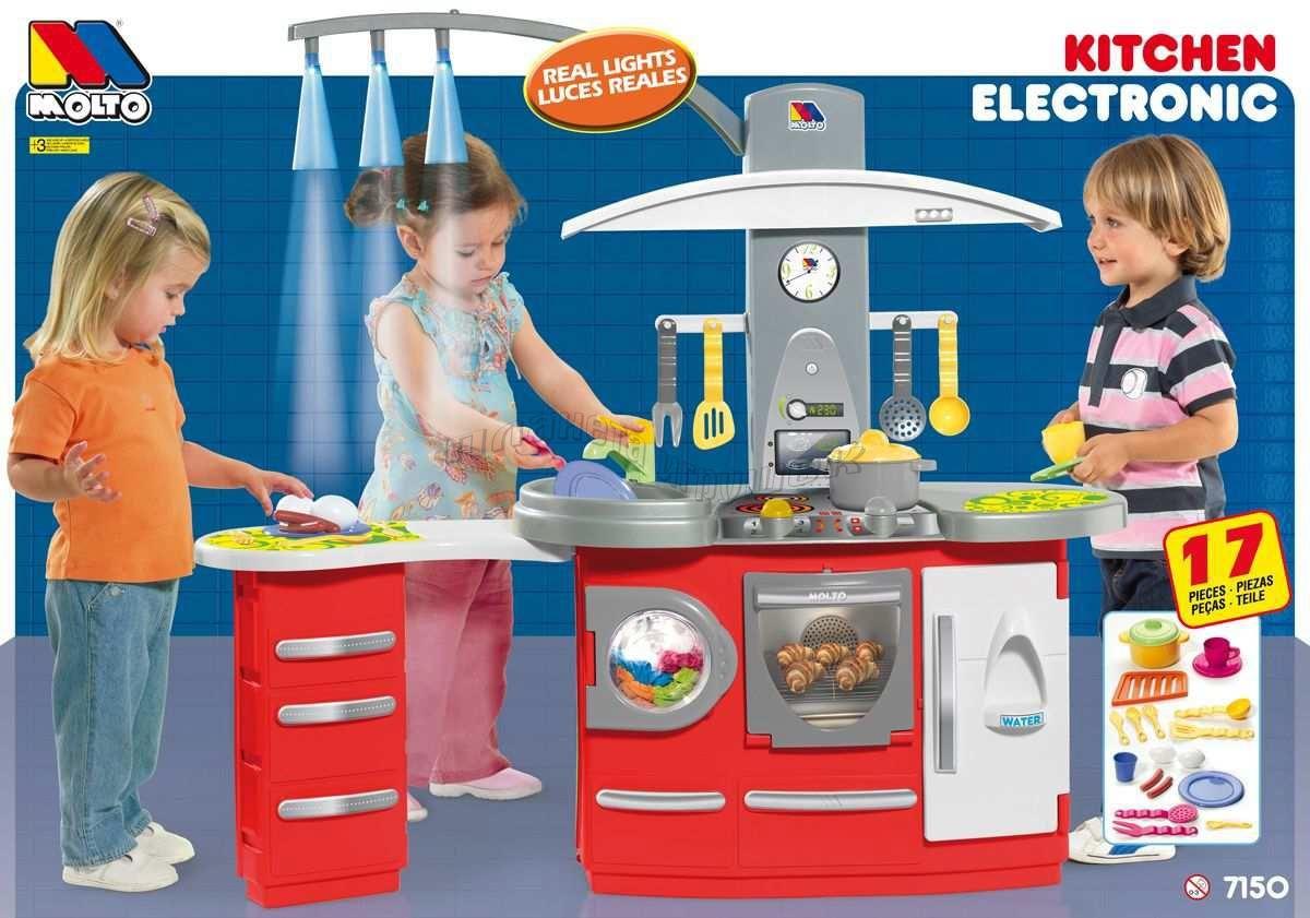 Игровая детская кухня Molto большая со светом