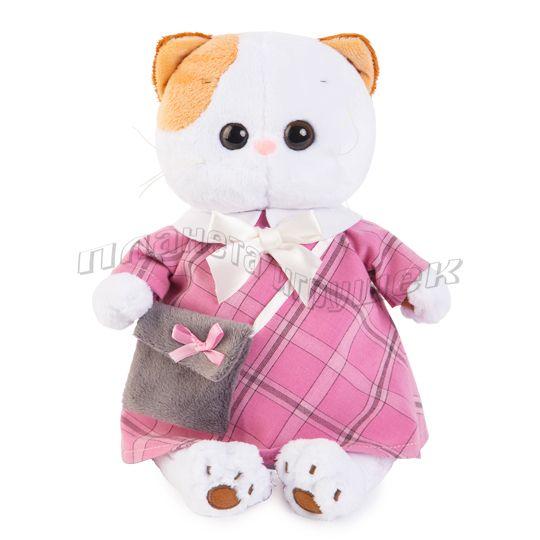 Ли-Ли в розовом платье с серой сумочкой (27 см)